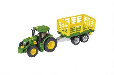 Juego montaje tractor c/ carro heno y remolque troncos