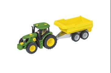 Juego montaje de tractor con remolque y arado