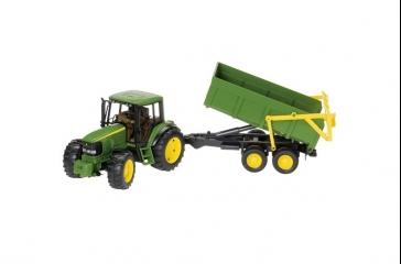 Tractor JD 6920 c/ remolque basculante