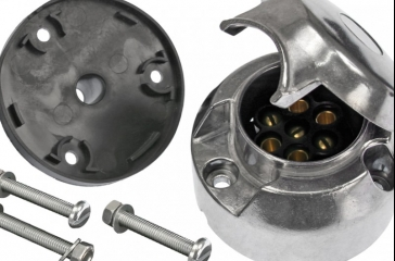 Enchufe hembra 7 polos metal
