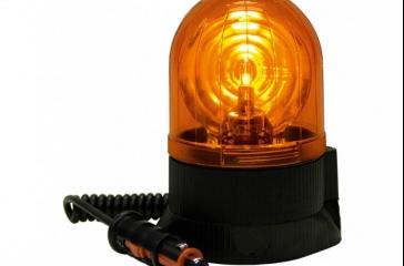 Luz aviso giratoria c/base magnética