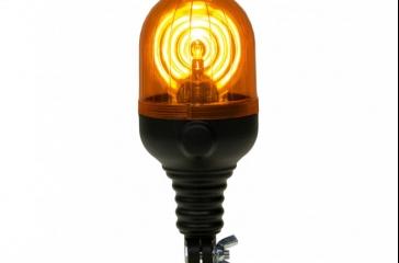 Luz aviso giratoria con soporte flexible